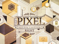 Pixel Explosion - Vector
