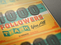 1000 behance followers thanks