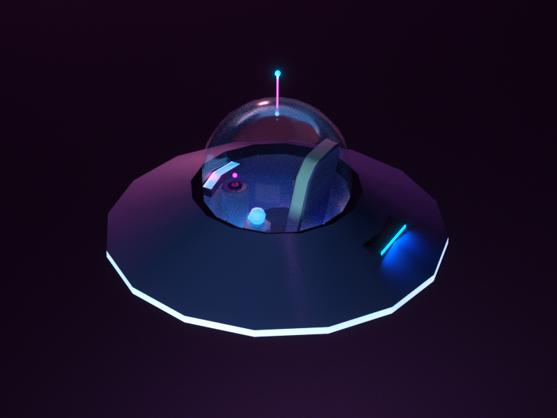 Spacecraft timetravel space purple octane c4d nave ovni 3d ufo spacecraft spaceship