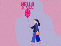 HELLO dribbble!.. graphic design hello dribbble adobe illustrator illustration art