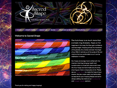 Sacred Shape web site website design wordpress