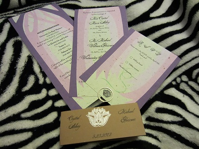 Crystal and Mike's Wedding Invites wedding invitation invite design paper print graphics green