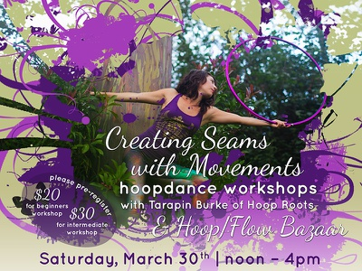 Hoop Roots Workshop Flyer flyer poster print event workshop design flier