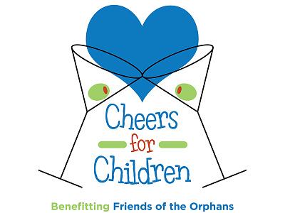 Cheers for Children Logo logo charity nonprofit event fundraiser branding identity design