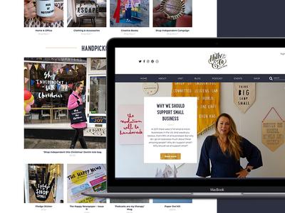 Holly & Co Website design