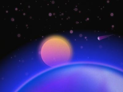 Cosmic view space exploration night sky minimal blur affinitydesigner affinity design vector illustration space art cosmic space