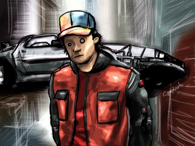 Back to the future draw drawing illustation pop art geek fan art fanart back to the future backtothefuture