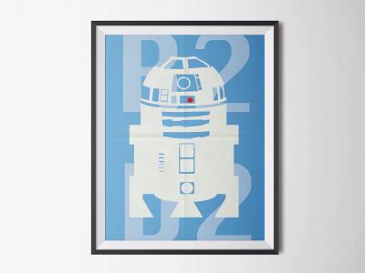 R2D2 minimalist poster minimalist guerre des étoiles star wars lucasfilm starwars r2d2
