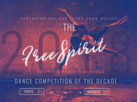 Landing Page Concept for Dance Competition Website