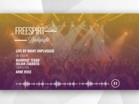 Music Festival Website Landing Page Concept Design