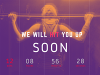Coming Soon Web Page Design Layout