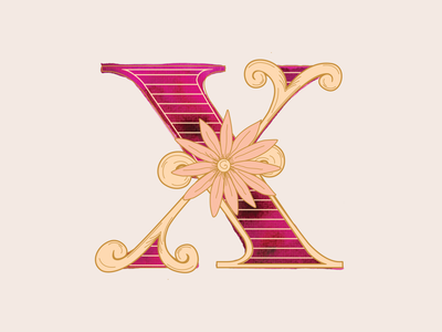 X - 36 Days of Type lettering letterform 36daysoftype typography art watercolor typography design branding vector illustration