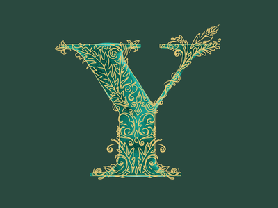 Y - 36 Days of Type letterform 36daysoftype typography art clean feminine design watercolor typography design vector illustration