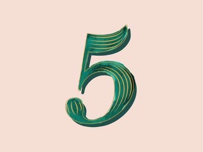 5 - 36 Days of Type lettering letterform clean design 36daysoftype typography art typography watercolor vector illustration