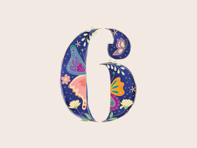 6 - 36 Days of Type letterform color watercolor clean 36daysoftype typography art typography design vector illustration