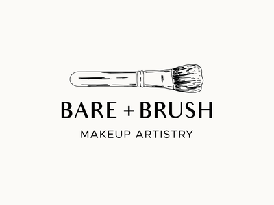 Bare + Brush | Logo feminine design makeup feminine clean logo logo design branding design vector illustration