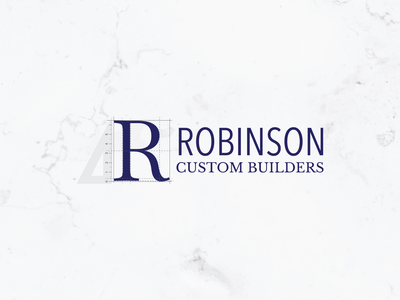Robinson | Custom Builder Logo builders architect construction design logo vector typography logo design branding