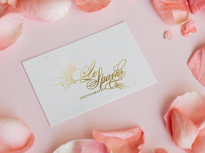 Le Sparks Wedding Photography Logo luxury logo clean logotype graphic graphicdesign branding design wedding logo typography logo design branding vector
