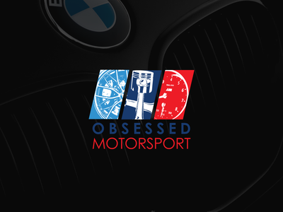 Obsessed Motorsport Logo logo clean color car logo bmw logo bmw cars branding logo design design vector illustration