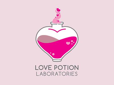 Love Potion Laboratories | Logo Design science feminine design laboratory vector illustration branding logo design logo