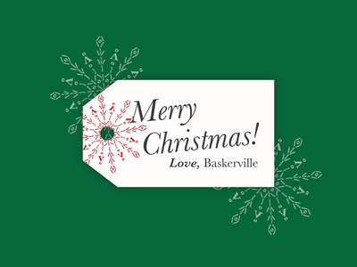 Merry Christmas | Love, Baskerville baskerville weekly warm-up typeface holidays gift tag letterform typography art typography font dribbblewarmup