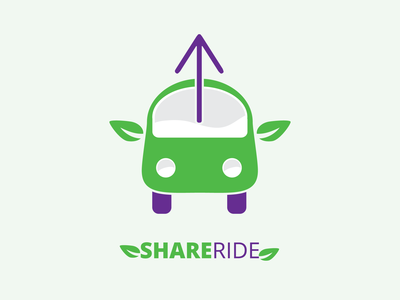 Share Ride | Rideshare Car Service Logo