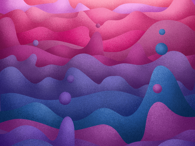 Lava Mountains hills lavalamp bubbles grain texture digitalart procreate mountain lava