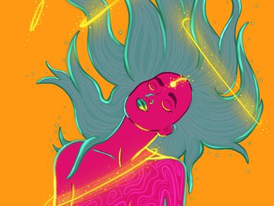 Feeling Gravity painter illustrator nude luminous alien drawing girlsinanimation digital painting painting procreate digital art digitalart design illustration