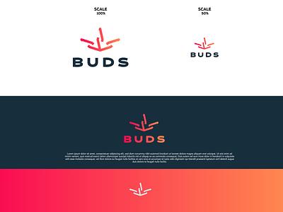 "BUDS ""Cannabis"" illustration design logodesign logo maker logotype graphic design brandmark minimal logo branding"