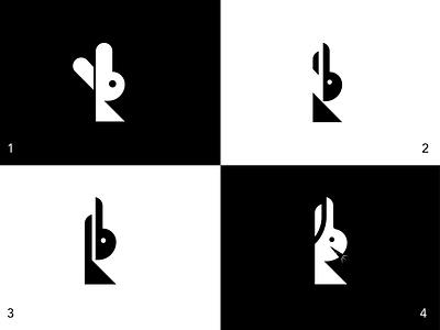 R+Rabbit business illustration logotype black white creative logo maker logotype rabbit logo branding design brandmark minimal logo branding