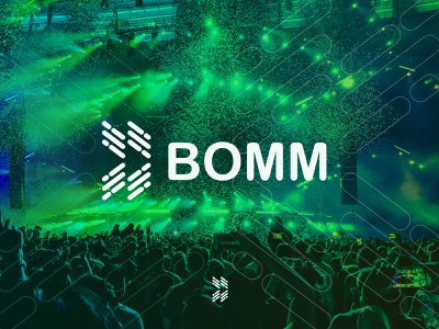Bomm Logo business logotype black white creative logodesign logo maker logotype graphic design brandmark minimal logo branding