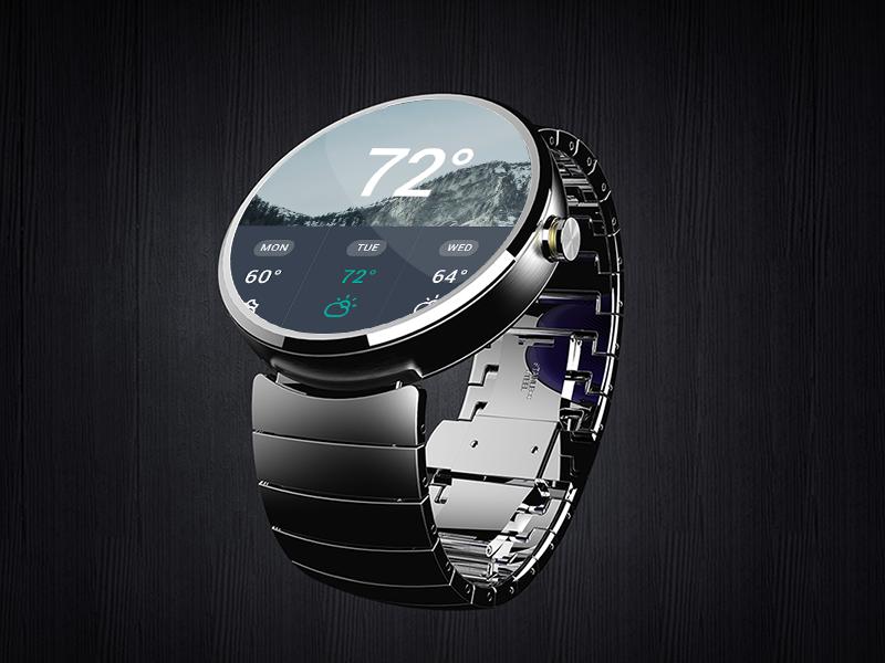 Moto 360: It's Time watch moto 360 ui smart watch mockup psd