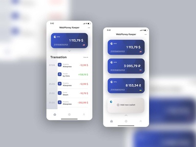 Mobile wallet | Redesign WebMoney