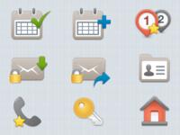 Mobile App - Custom Icon Set