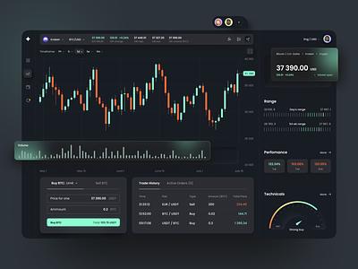 Cryptocurrency Dashboard tradingapp darktheme sell buy widgets darkmode design app design uiux ui productdesign app fireartstudio fireart trading cryptocurrency dashboard crypto