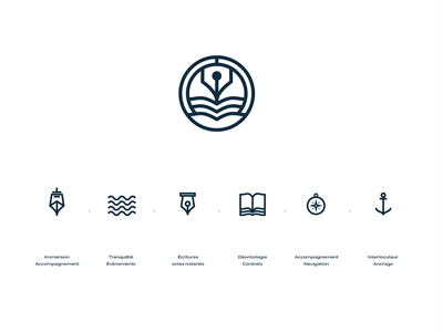 Logo research notaire notary