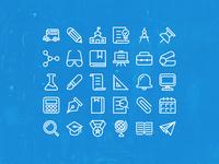 Back To School 30 x Icons set