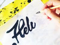 Helios handwritten logo