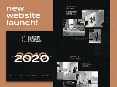 CCC website launch! ui design cuisine webdesign