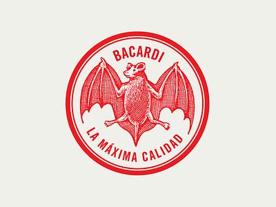Fucundo Bacardi Rum logo icon typography illustration design branding