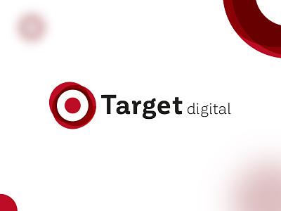 Target digital Logo point circle digital target font logotype amblem digital agency logo logo