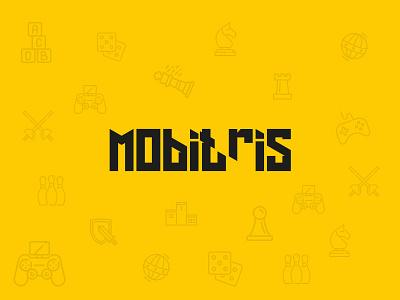 Mobitris Game Company Logo mobile game font logotype amblem game logo