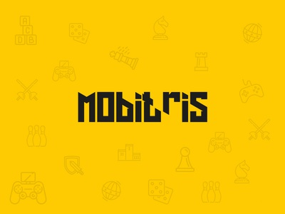 Mobitris Game Company Logo mobile game font logotype amblem game logo
