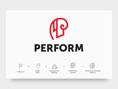 Perform Logo vector design illustration amblem logo