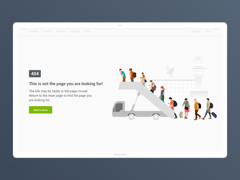 Flight 404 Error Page illustration ui sketch 404 page 404 error page flight 404