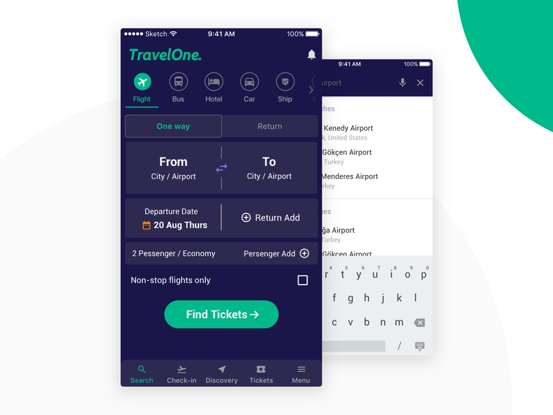 Booking Concept App find ticket find car bus booking app booking book