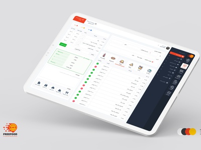 Freefood panel فری فود dashboard app dashboard design dashboard ui panel freefood food clean dashboard design theme ux ui