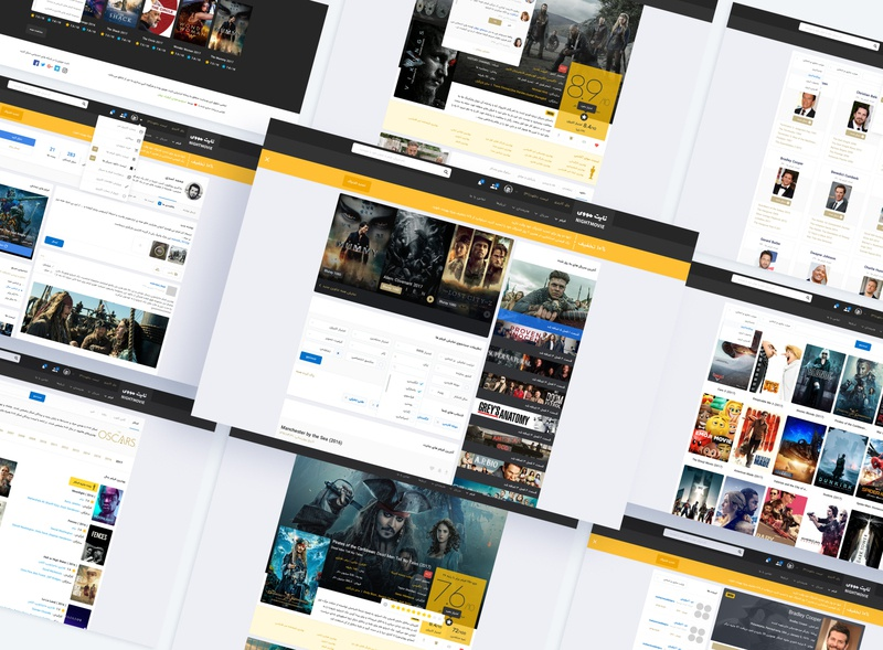 Nightmovie نایت مووی دانلود فیلم series movies download nightmovie dashboard branding clean design theme ux ui