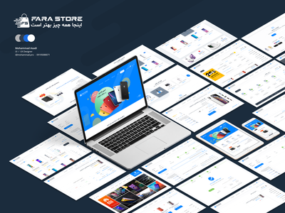 farastore موبایل خرید دیجیتال فروشگاه فرا استور shopping cart shop farastore digital store digital store design branding magazine dashboard clean wordpress design theme ux ui