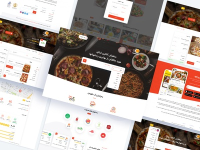 Freefood ux design ui design فست فود سفارش غذا فری فود fast food order food freefood food magazine dashboard clean wordpress design theme ux ui
